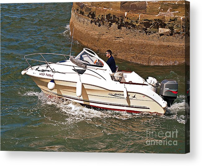 Boat Acrylic Print featuring the photograph Wildthing by David Hollingworth