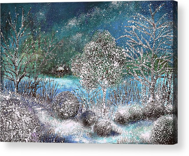 Winter Acrylic Print featuring the painting Winter by Milenka Delic