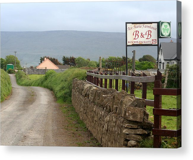 Ireland Acrylic Print featuring the photograph Ave Maria Bed And Breakfast by Beverlee Singer