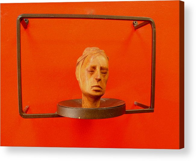 Face Acrylic Print featuring the sculpture Face by Victor Amor