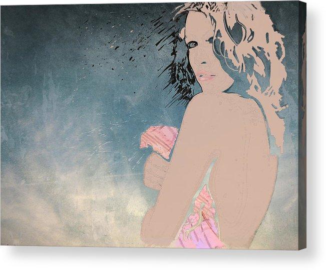 Girl Acrylic Print featuring the digital art Josephine by Lynn Berkeley