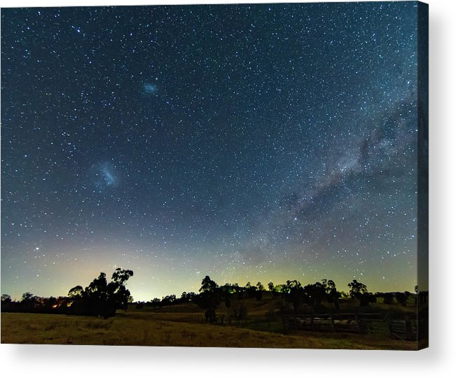 Astro Acrylic Print featuring the photograph Milky Way And Countryside by Merrillie Redden