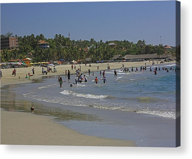Beach Acrylic Print featuring the photograph Enjoying A Day At The Beach by James Connor