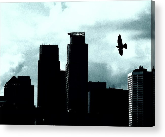 Minneapolis Skyline Acrylic Print featuring the photograph A Bird's View Of Minneapolis by Susan Stone