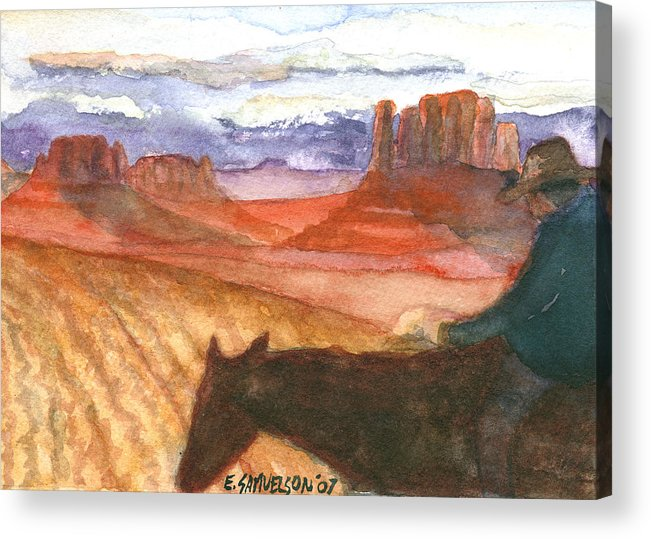 Navajo Acrylic Print featuring the painting Almost Home by Eric Samuelson