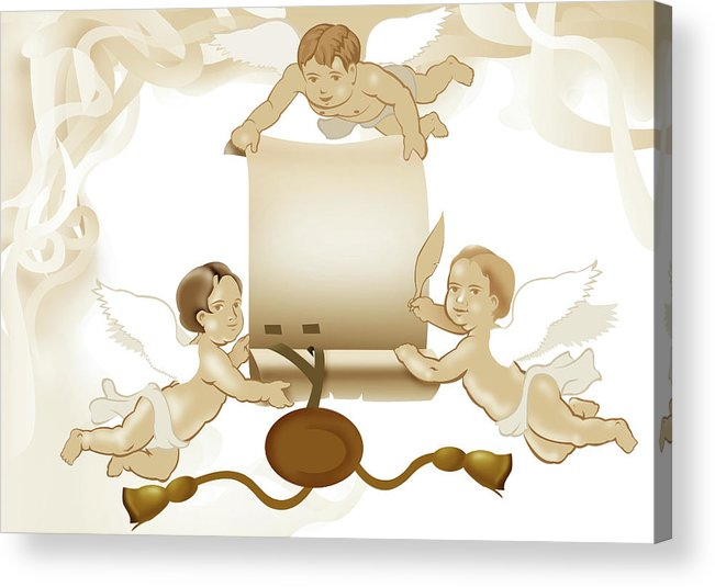 Vellum Acrylic Print featuring the digital art Angels Invitation by Stet Mihail Angelo
