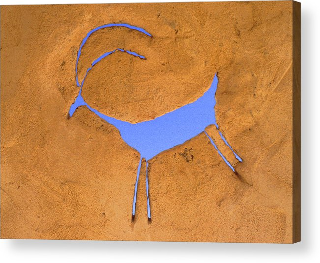Anasazi Acrylic Print featuring the photograph Antelope Petroglyph by Jerry McElroy