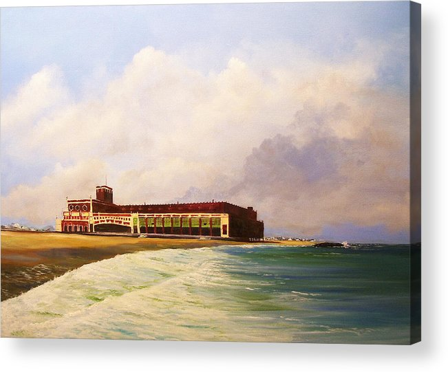 Asbury Park Acrylic Print featuring the painting Asbury Park Convention Hall by Ken Ahlering