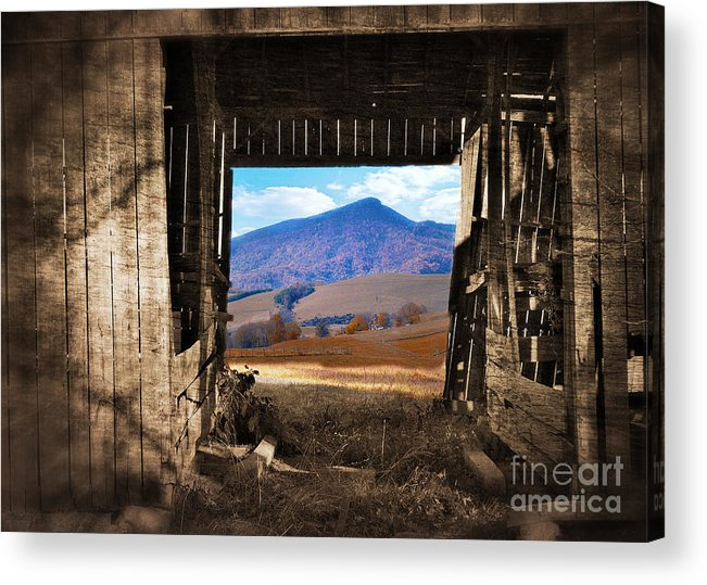 Barn Acrylic Print featuring the photograph Barn With A View by Kathy Jennings