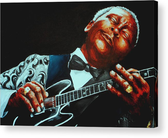 Bb King Acrylic Print featuring the painting Bb King Of The Blues by Richard Klingbeil