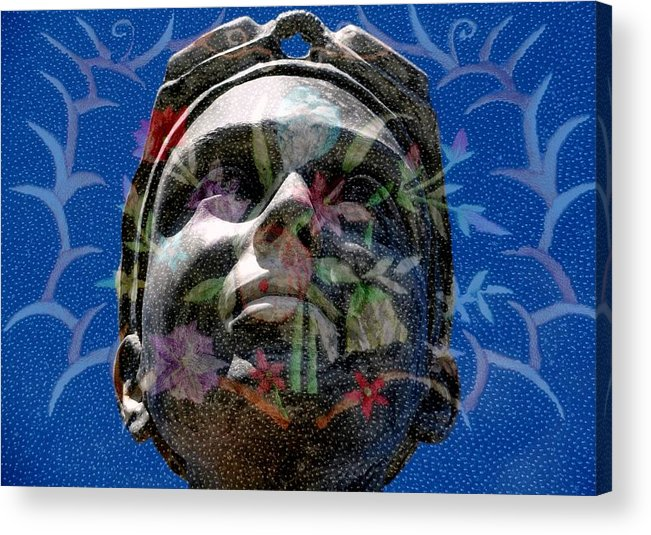 Girl Acrylic Print featuring the digital art Beaded Girl by Derick Burke