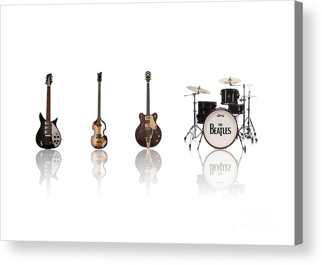 The Beatles Acrylic Print featuring the digital art Beat Of Beatles by Six Artist