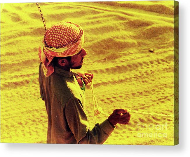 Egypt Acrylic Print featuring the photograph Bedouin Guide by Elizabeth Hoskinson