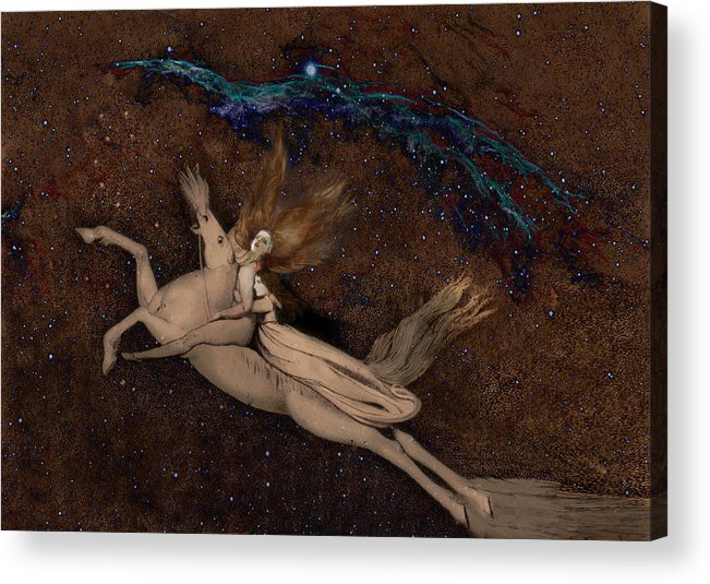 William Blake Acrylic Print featuring the digital art Beyond2 by Henriette Tuer lund