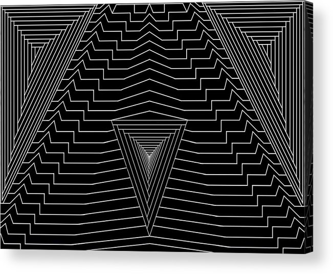 Se-metric Acrylic Print featuring the digital art Black Diamond by Christopher Rowlands