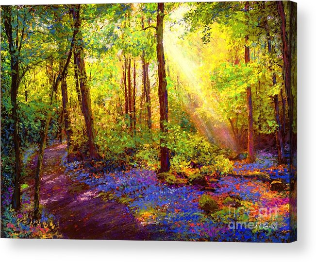 Bluebell Acrylic Print featuring the painting Bluebell Blessing by Jane Small