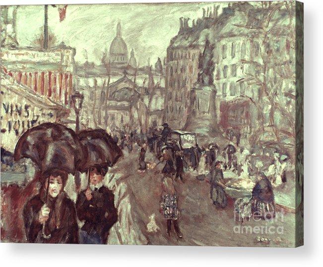 1895 Acrylic Print featuring the photograph Bonnard: Place Clichy, C1895 by Granger