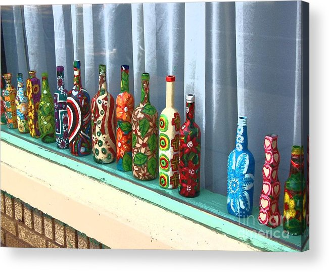 Bottles Acrylic Print featuring the photograph Bottled Up by Debbi Granruth