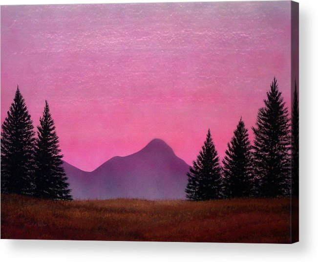 Landscape Acrylic Print featuring the painting Brightness by Frank Wilson