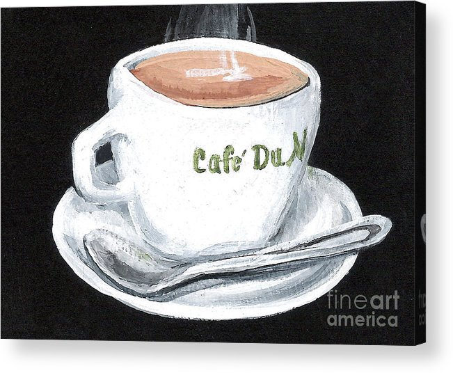 Coffee Acrylic Print featuring the painting Cafe Au Lait by Elaine Hodges