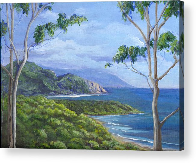 Landscape Acrylic Print featuring the painting Cape Tribulation by Robynne Hardison