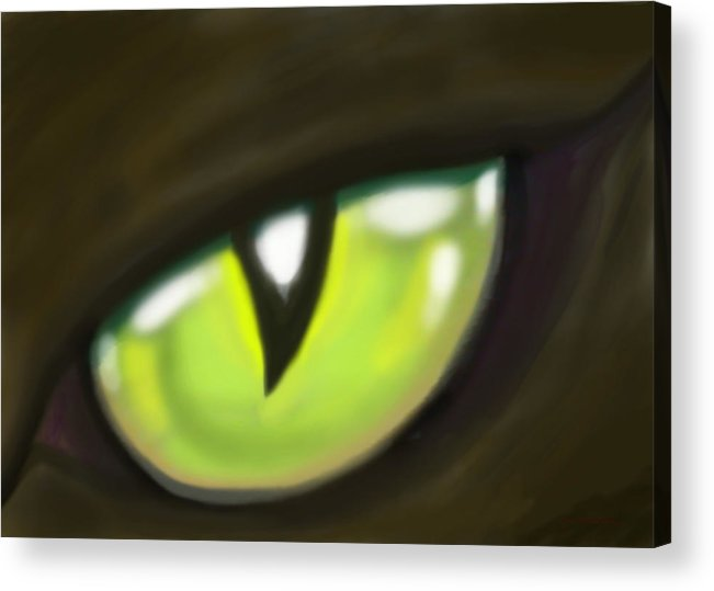 Cat Acrylic Print featuring the painting Cat Eye by Kevin Middleton
