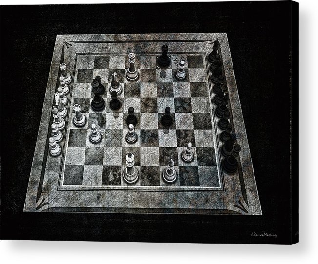 Checkmate In One Move Acrylic Print featuring the digital art Checkmate In One Move by Ramon Martinez