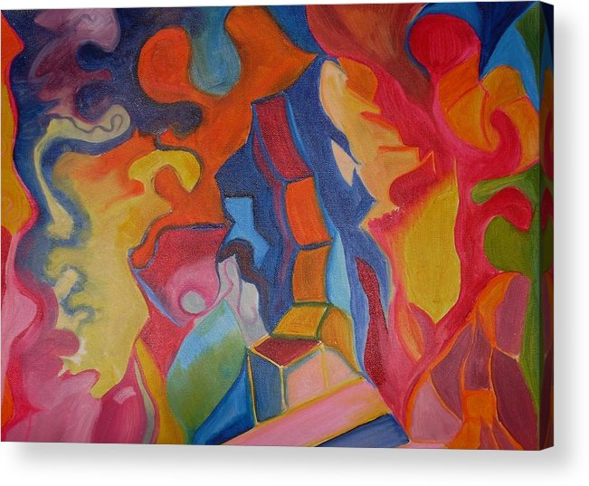 Acrylic Print featuring the painting Colors by Joseph Arico