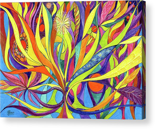 Colourful Acrylic Print featuring the painting Colourful 2009 by Charles Cater
