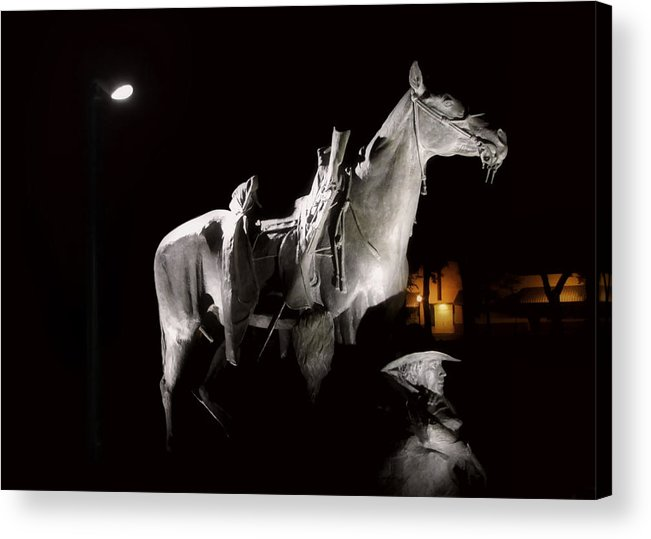 Prescott Acrylic Print featuring the photograph Cowboy At Rest by Christine Till