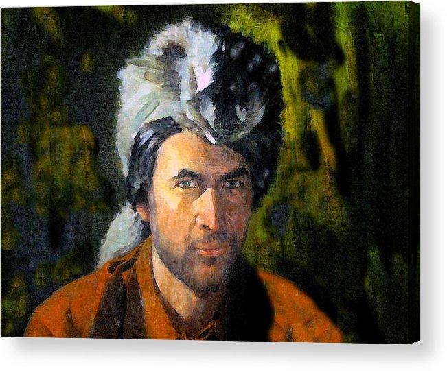 Davy Crockett Acrylic Print featuring the painting Davy Crockett by David Lee Thompson