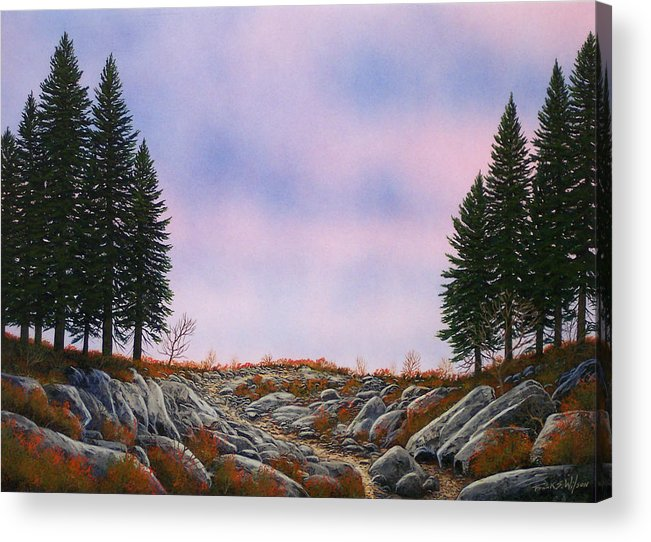 Landscape Acrylic Print featuring the painting Dawn Pacific Crest Trail by Frank Wilson