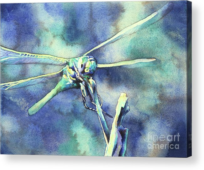 Art For House Acrylic Print featuring the painting Dragonfly II by Ryan Fox