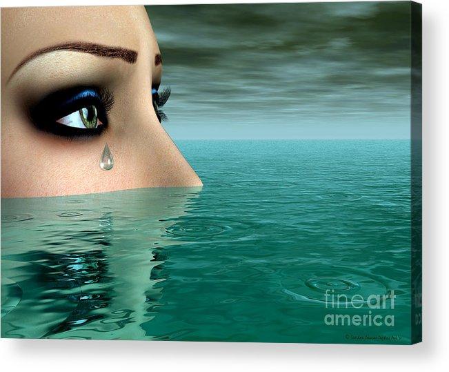 Bryce Acrylic Print featuring the digital art Drowning In A Sea Of Tears by Sandra Bauser Digital Art
