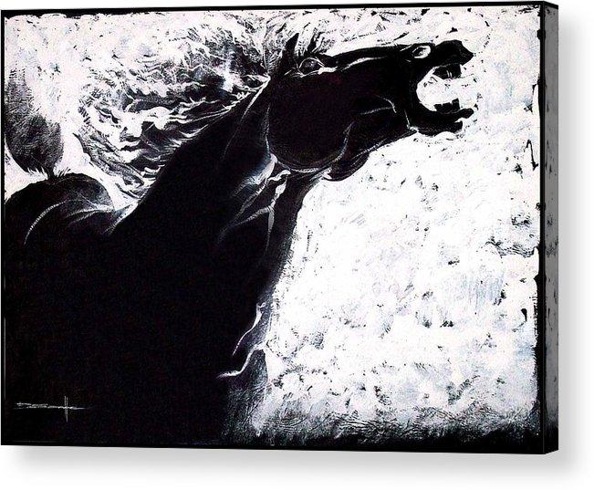Equus Acrylic Print featuring the painting Equus by Prash Sankhe