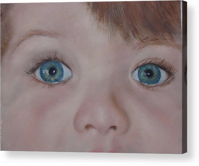 Eyes Acrylic Print featuring the painting Eyes Of A Child by Darlene Green