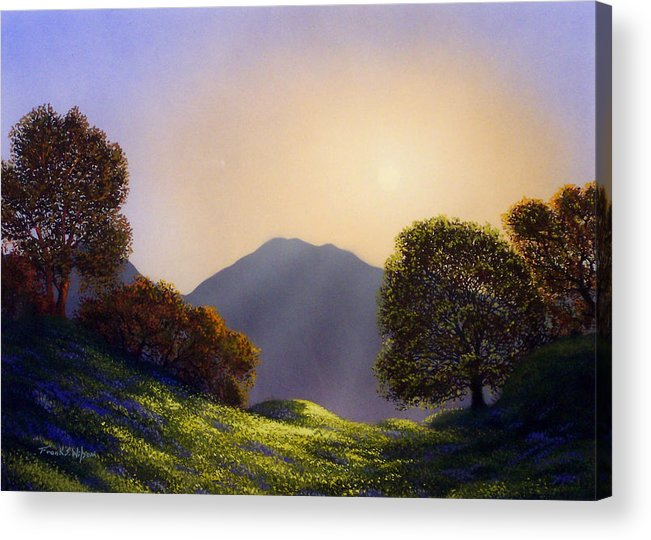 Landscape Acrylic Print featuring the painting Field Of Wildflowers by Frank Wilson