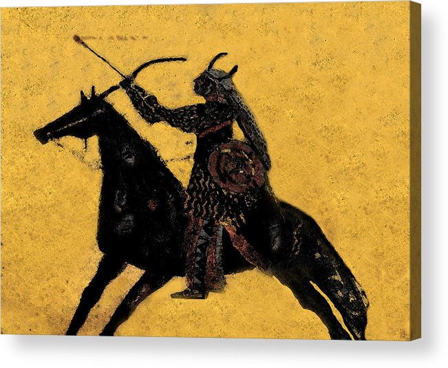 Flaming Arrow Acrylic Print featuring the painting Flaming Arrow by David Lee Thompson