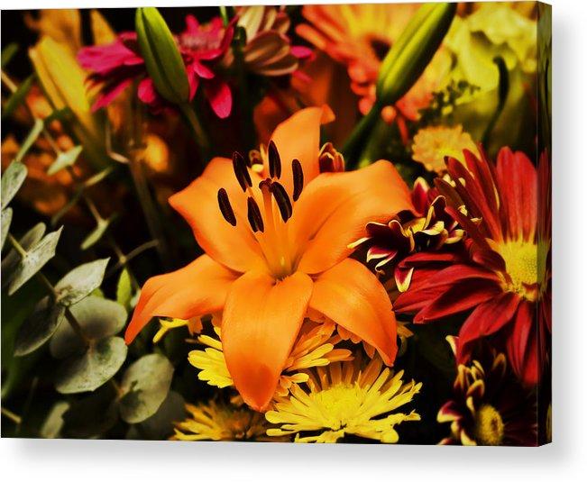 Flower Acrylic Print featuring the photograph Floral Arrangement by Al Mueller