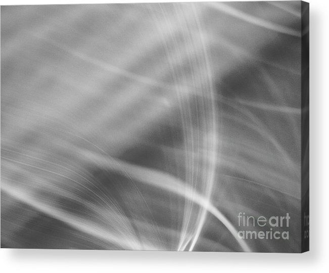 Abstract Acrylic Print featuring the photograph Flow In Black by Dorothy Hilde