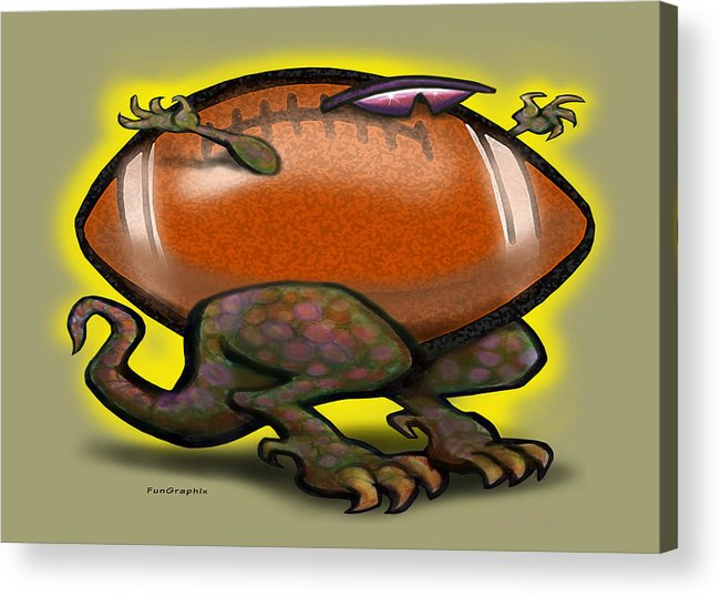 Football Acrylic Print featuring the digital art Football Beast by Kevin Middleton
