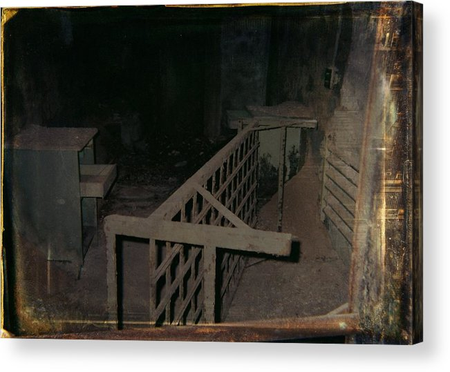 Abandoned Building Acrylic Print featuring the photograph Forgotten Room by Gothicrow Images