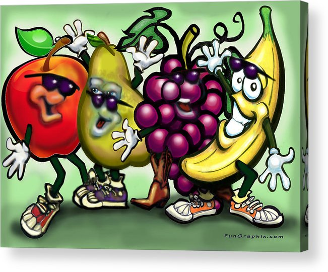 Fruit Acrylic Print featuring the painting Fruits by Kevin Middleton