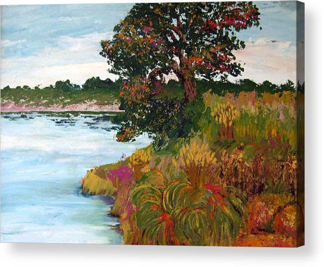 Art Nomad Acrylic Print featuring the painting Ganges Tree by Art Nomad Sandra Hansen