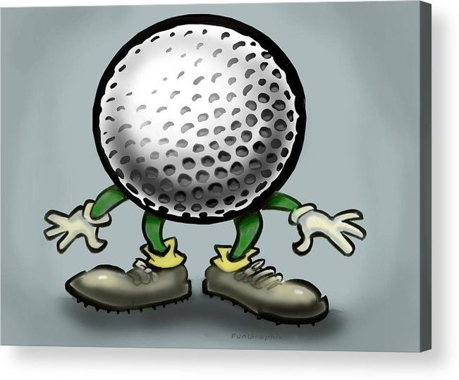 Golf Acrylic Print featuring the greeting card Golf by Kevin Middleton