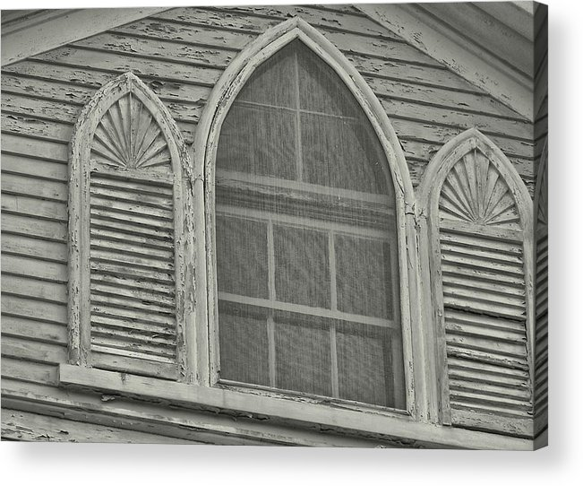 Nantucket Acrylic Print featuring the photograph Nantucket Gothic Window by JAMART Photography