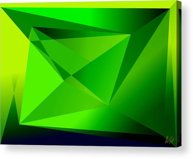 Pyramiden Acrylic Print featuring the digital art Green by Helmut Rottler
