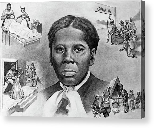 Harriet Tubman Acrylic Print featuring the painting Harriet Tubman by Curtis James