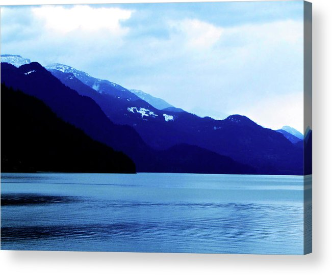 Mountains Acrylic Print featuring the photograph Harrison Lake Bc Canada by Pam Ellis