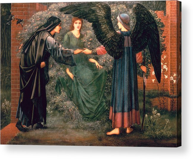 Heart Acrylic Print featuring the painting Heart Of The Rose by Sir Edward Burne-Jones